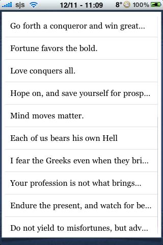 Virgil Quotes screenshot #3