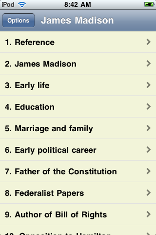 James Madison - Just the Facts screenshot #1