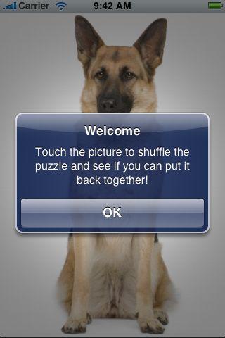 SlidePuzzle - German Shepherd screenshot #2