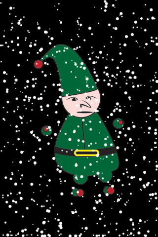 Round Christmas Elf Snow Globe screenshot #1