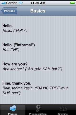iTrek! - Malay Phrasebook screenshot #2