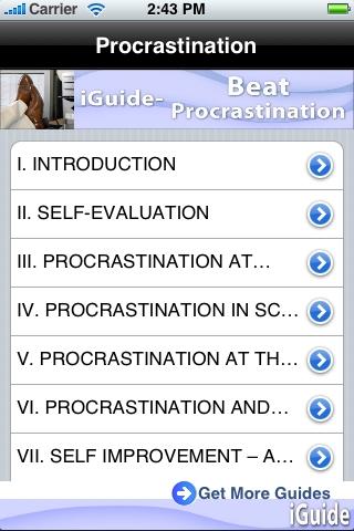 iGuides - Beat Procrastination screenshot #1