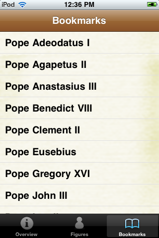 Popes Pocket Book screenshot #4