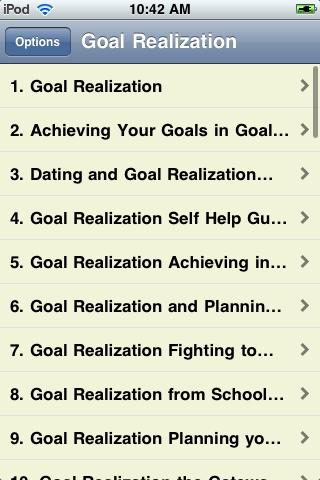 Goal Realization screenshot #2