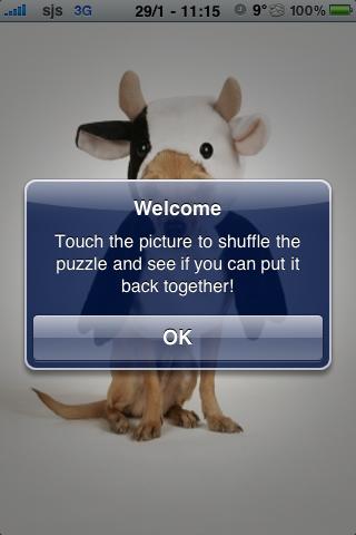 Super Crazy Cow Dog Slide Puzzle screenshot #3