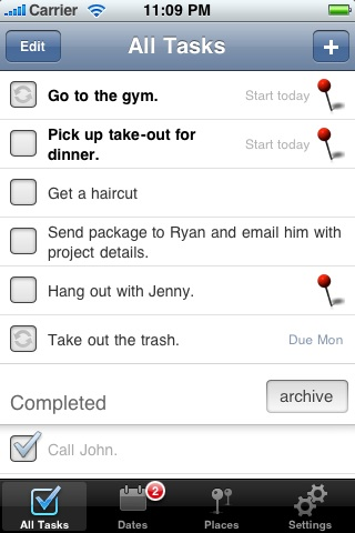 Tasker - A Task & Todo List Organizer with Maps screenshot #2