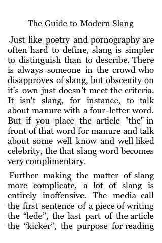 The Guide to Modern Slang screenshot #1