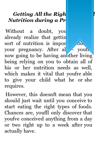Food and Nutrition During The Pregnancy screenshot #2