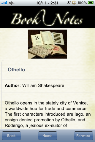 Book Notes - Othello screenshot #3