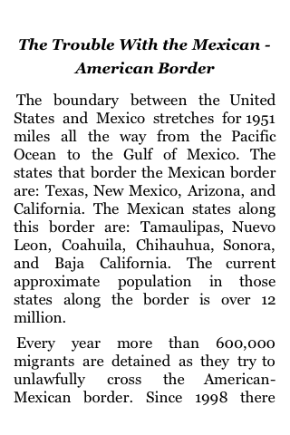 The Trouble With The Mexican – American Border screenshot #1