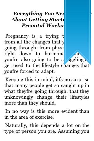 All About Prenatal Workouts screenshot #2