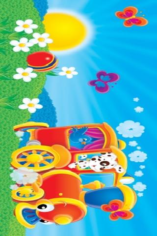 Fun Animal Train Slide Puzzle screenshot #1
