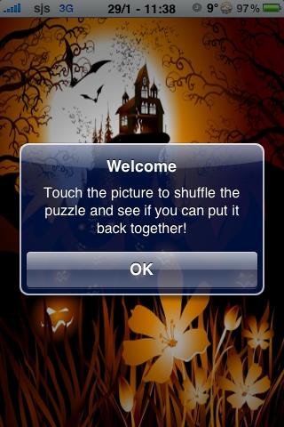 Spooky Halloween Slide Puzzle screenshot #3