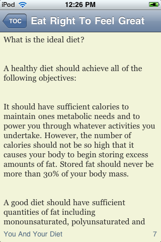 Eat Right To Feel Great screenshot #2