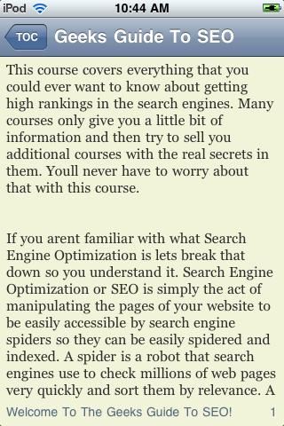 The Geek's Guide to SEO screenshot #3