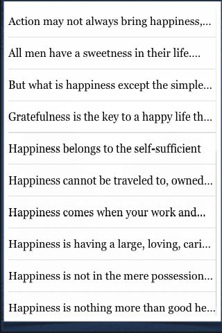 Happiness Quotes screenshot #3
