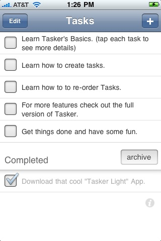 Tasker Lite - A Simple, Clean Todo List and Task Manager screenshot #1