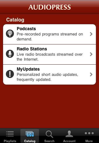 Podcasts - AudioPress Player screenshot #1