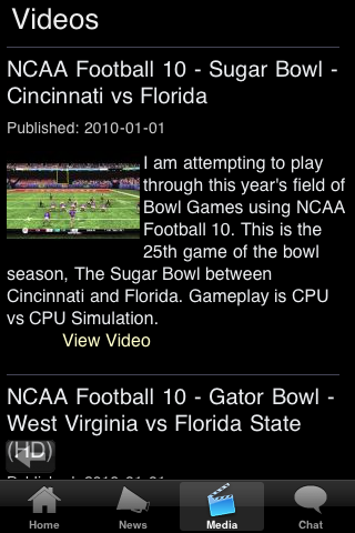 Virginia M College Football Fans screenshot #5