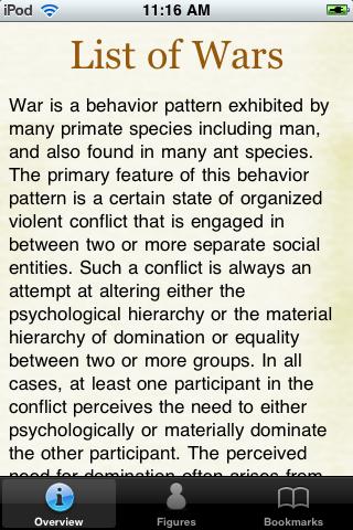 Historical Wars Pocket Book screenshot #1