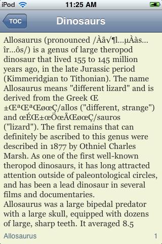 The Dinosaur Book screenshot #2