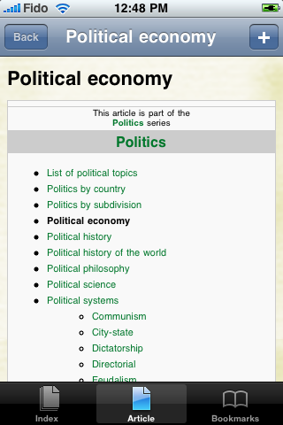 The Political Economy Study Guide screenshot #1