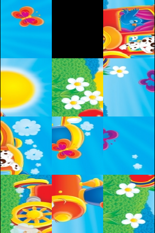 Fun Animal Train Slide Puzzle screenshot #3