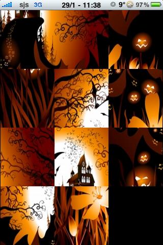 Spooky Halloween Slide Puzzle screenshot #2