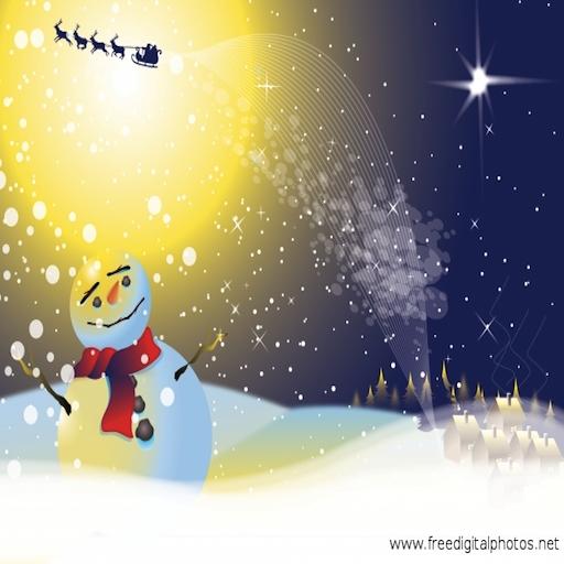 Slide Puzzle - Santa with a Snowman