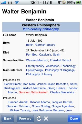 Walter Benjamin Quotes screenshot #1