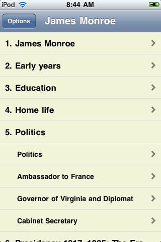James Monroe - Just the Facts screenshot #1