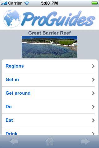ProGuides - Great Barrier Reef screenshot #1