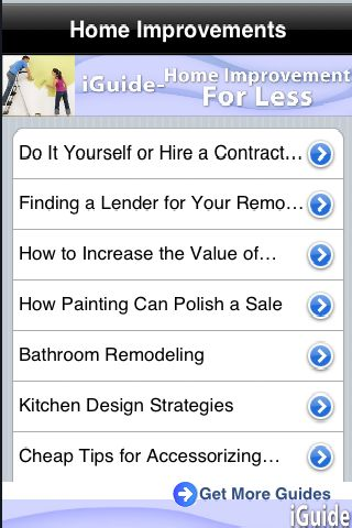 iGuides - Home Improvements for Less screenshot #1
