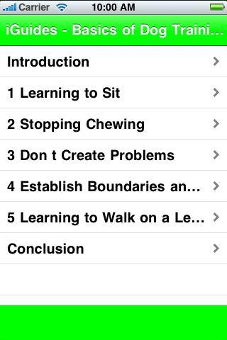 iGuides - Basics of Dog Training screenshot #2