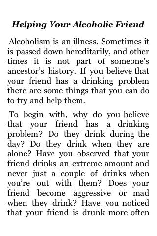 Helping Your Alcoholic Friend screenshot #1
