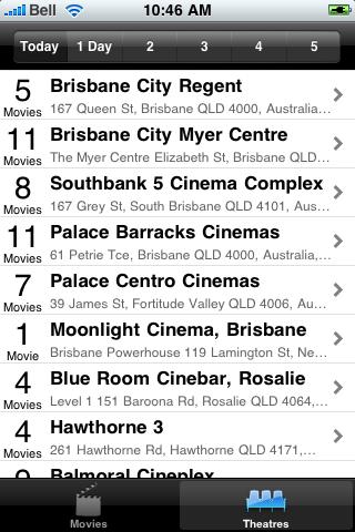 Brisbane, AU Movie Time screenshot #4