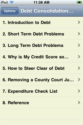 Debt Consolidation Advice screenshot #1