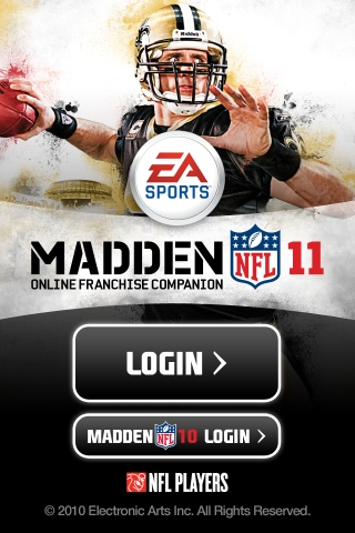 Madden NFL 11 Online Franchise Companion screenshot #1