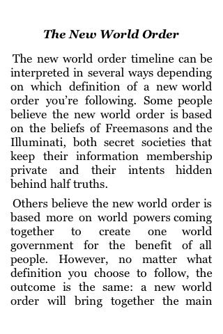 The New World Order screenshot #1