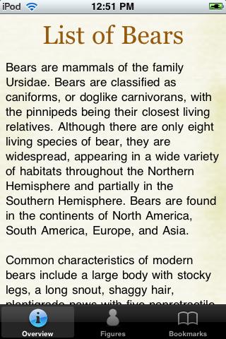 Bear Species Pocket Book screenshot #1
