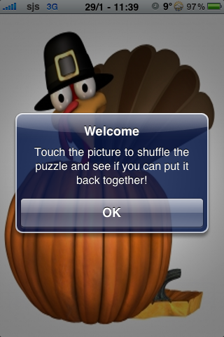 Thanksgiving Turkey Slide Puzzle screenshot #3