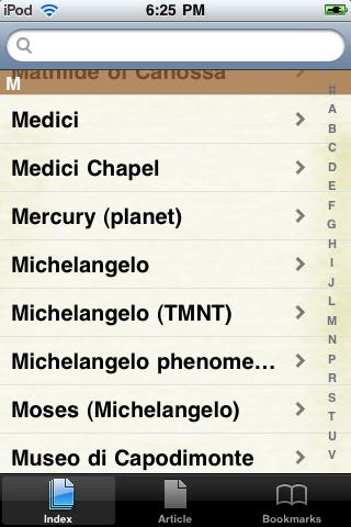 Michelangelo Study Guide screenshot #2