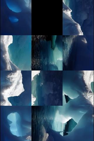 Gorgeous Ice Caverns Slide Puzzle screenshot #3
