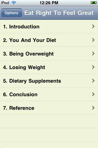 Eat Right To Feel Great screenshot #1