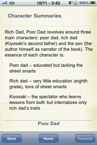 Book Notes - Rich Dad, Poor Dad screenshot #2