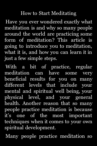 How to Start Meditating screenshot #1