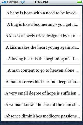 Love Quotes screenshot #3