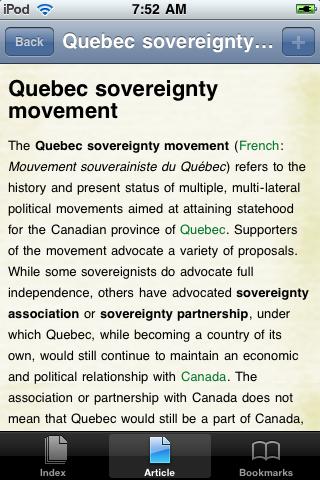 Quebec Separatism Study Guide screenshot #1