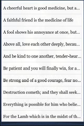 Bible Quotes screenshot #3