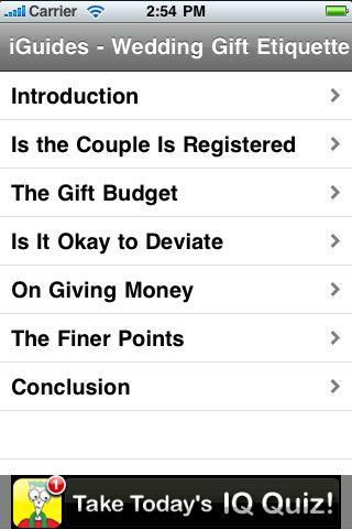 iGuides - Wedding Gift Etiquette screenshot #3